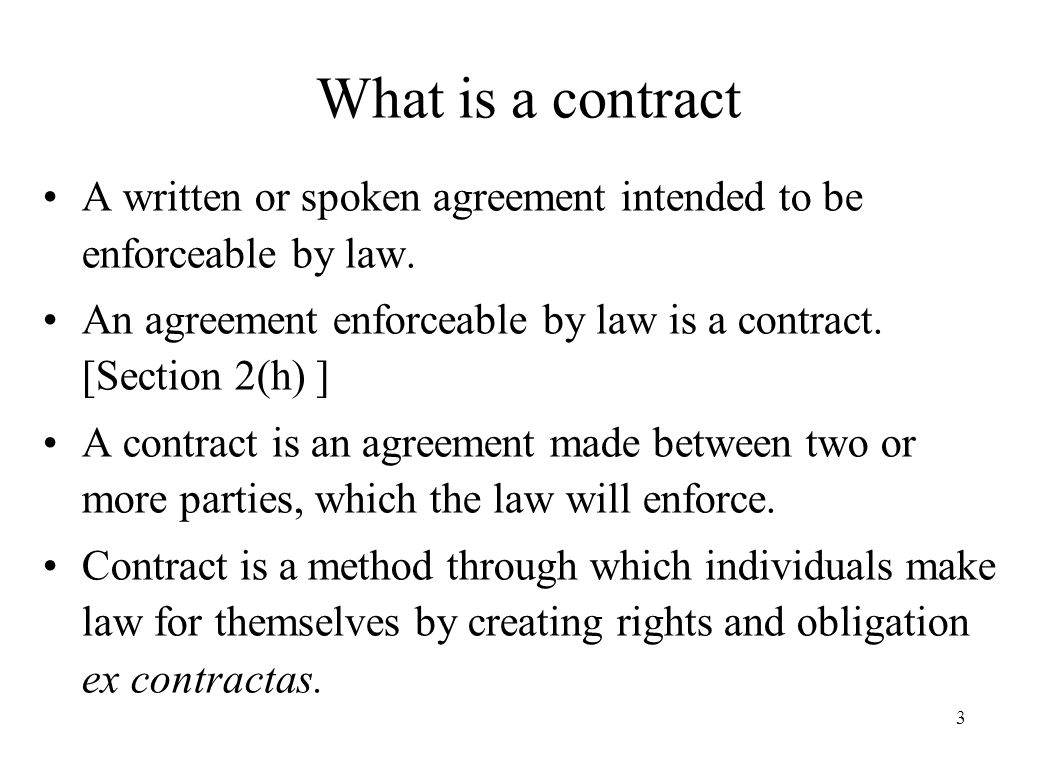 Can a Contract be Enforced?